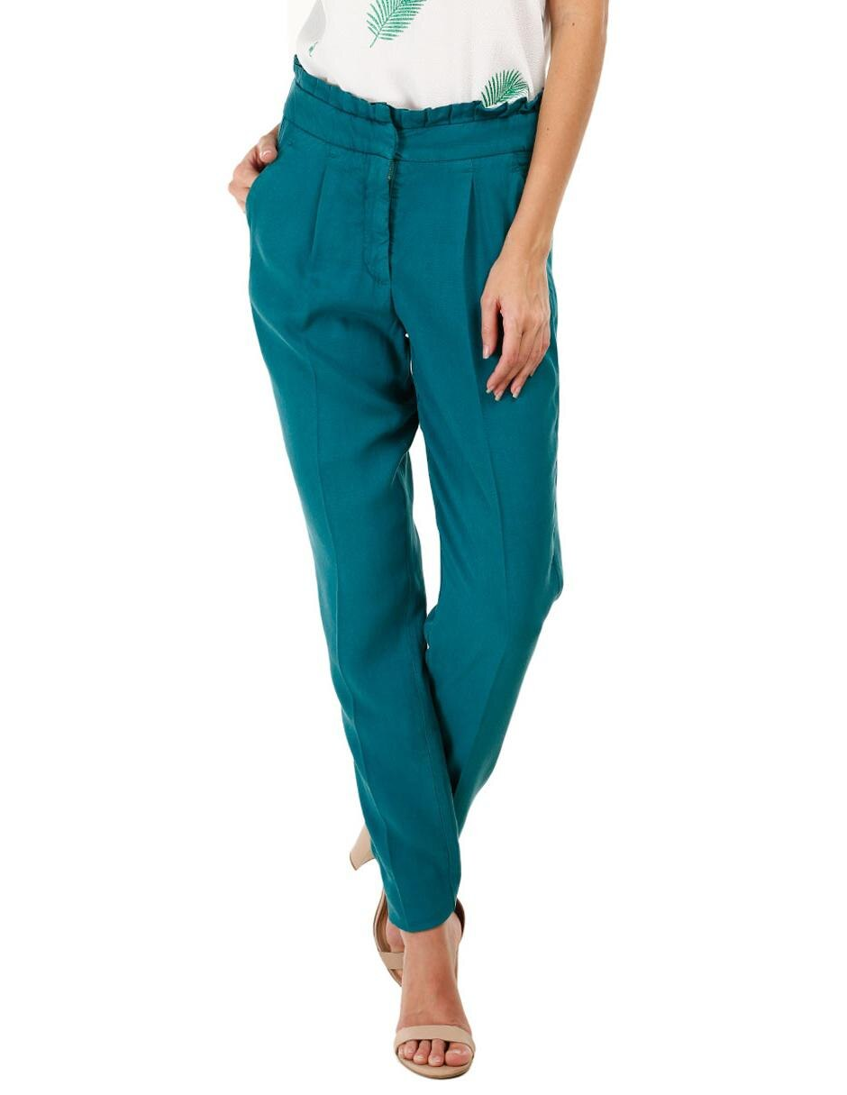 venta minorista c2657 1d209 Pantalón liso NAF NAF verde