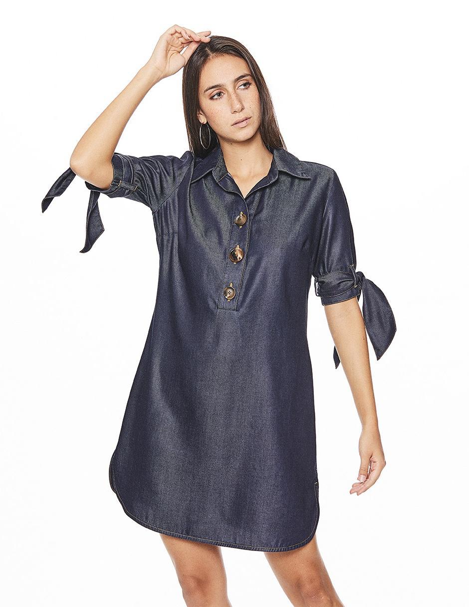 Vestido Casual Studio F Azul Marino